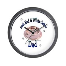 Red & White Dad Bowl Wall Clock