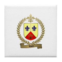 DION Family Crest Tile Coaster