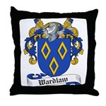 Wardlaw Family Crest Throw Pillow