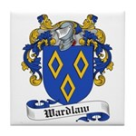 Wardlaw Family Crest Tile Coaster