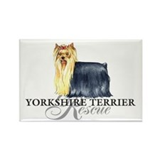Yorkie Rescue Rectangle Magnet