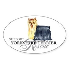 Yorkie Rescue Oval Decal
