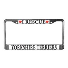 Yorkie Rescue License Plate Frame
