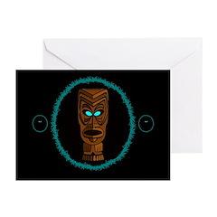 Tiki Blue Eyes Greeting Cards (Pk of 20)