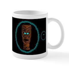 Tiki Blue Eyes Dark Mug