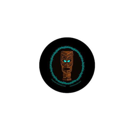 Tiki Blue Eyes Mini Button