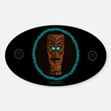 Tiki Blue Eyes Oval Decal