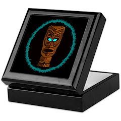 Tiki Blue Eyes Keepsake Box