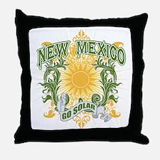 Go Solar New Mexico Throw Pillow