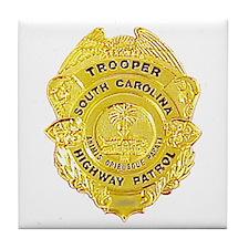 South Carolina Highway Patrol Tile Coaster