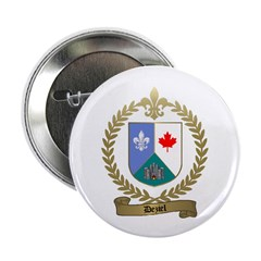DEZIEL Family Crest Button