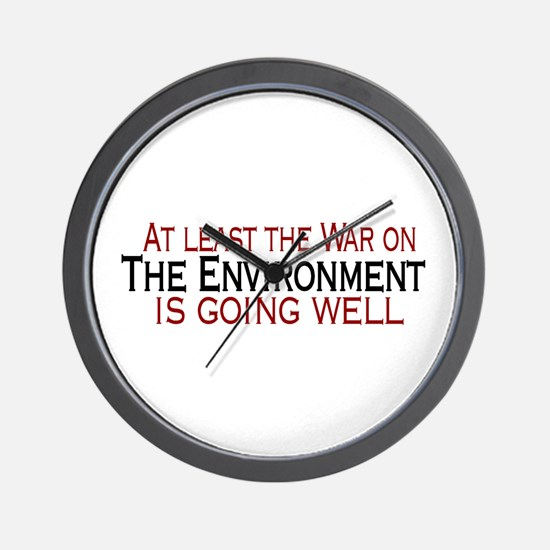 War on the Enviroment Wall Clock