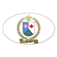 DEZIEL Family Crest Oval Decal
