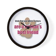 Irish Red and White Setters woman's best friend Wa