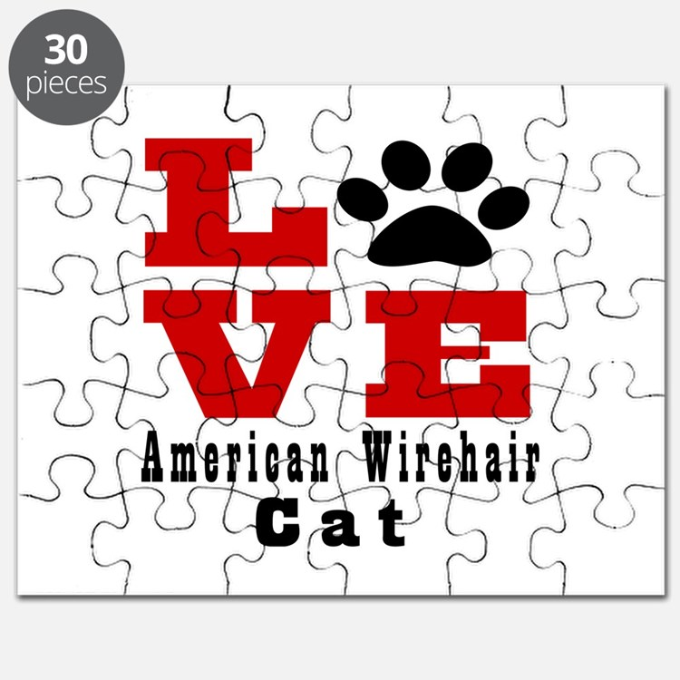 Love american wirehair Cat Puzzle