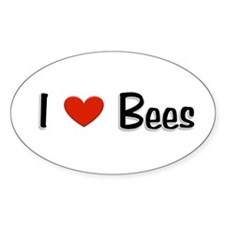 I love Bees Oval Sticker (10 pk)