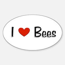 I love Bees Oval Sticker (10 pk)