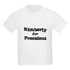 Kimberly for President Kids T-Shirt