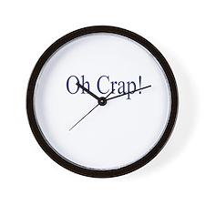 Oh Crap Wall Clock