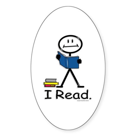 BusyBodies Reading Oval Sticker