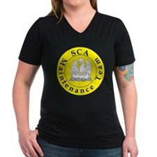 SCA Maintenance Team Women's V-Neck Dark T-Shirt
