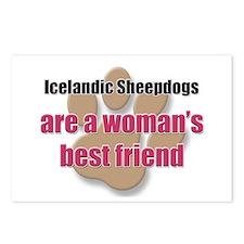 Icelandic Sheepdogs woman's best friend Postcards