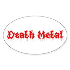 Death Metal Oval Decal