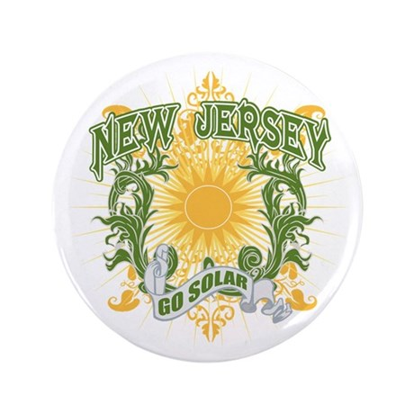 "Go Solar New Jersey 3.5"" Button"