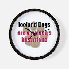 iceland Dogs woman's best friend Wall Clock