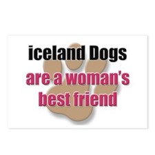 iceland Dogs woman's best friend Postcards (Packag