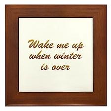 Wake Me Up Framed Tile