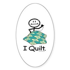 BusyBodies Quilt Oval Stickers