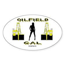 Oilfield Gal Oval Decal