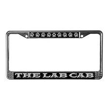 Black Lab Cab License Plate Frame