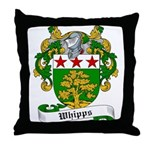 Whipps Family Crest Throw Pillow