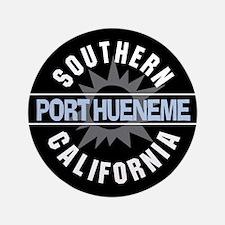"Port Hueneme California 3.5"" Button"
