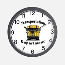 Transportation Department Wall Clock