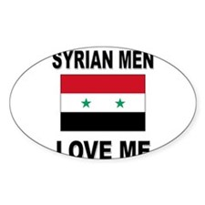 Syrian Men Love Me Oval Decal