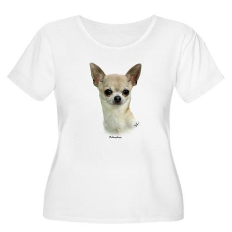 Chihuahua 9P93D-123 Women's Plus Size Scoop Neck T
