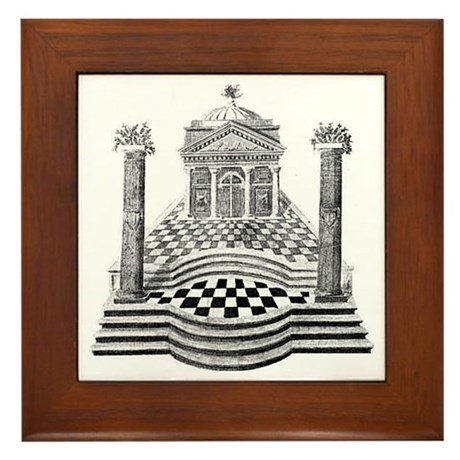 Masonic Framed Tile