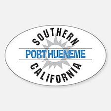 Port Hueneme California Oval Decal