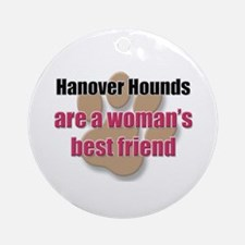 Hanover Hounds woman's best friend Ornament (Round