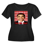 Obama Yes We Can Women's Plus Size Scoop Neck Dark