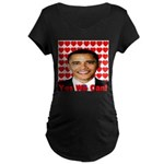 Obama Yes We Can Maternity Dark T-Shirt