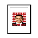 Obama Yes We Can Framed Panel Print