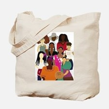 Brown Lady Collage Tote Bag