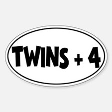 Twins Plus Four - Oval Decal