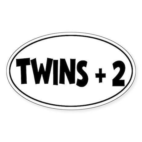 Twins Plus Two - Oval Sticker