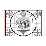TV Test Pattern Indian Chief Rectangle Sticker