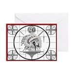 TV Test Pattern Indian Chief Greeting Cards (Pk of